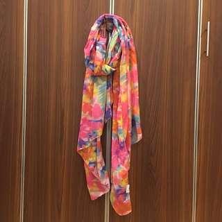 Aldo pink floral large scarf