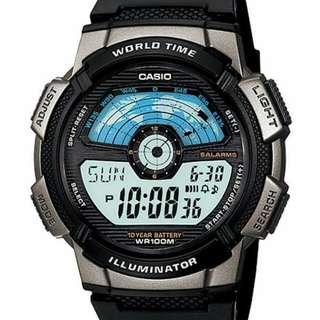 Casio AE-1100W-1AV jam sport pria