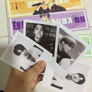 BTS polaroids (not for sale)