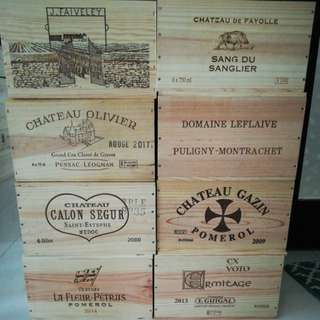 8 for $112 Wooden wine crates or boxes