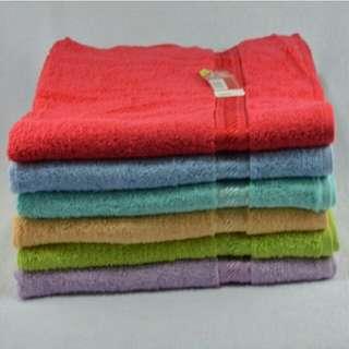 Handuk Merah putih Ukuran 50x100 buy 1 get 1