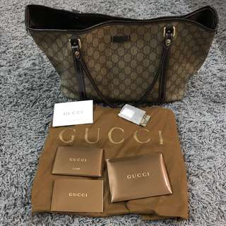 AUTHENTIC GUCCI JOY Tote Brown series