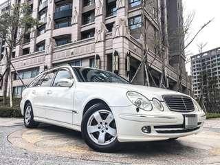 全額貸專區 2006年 賓士 BENZ E350 轎旅車 全車原鈑件 海關證明齊 八安全氣囊 多功能方向盤 皮椅 車況