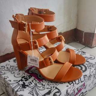 New payless Brash shoes high heels coklat brown