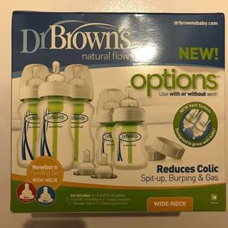 Brand New Sealed Dr Brown's Wide Neck (Option) newborn Set