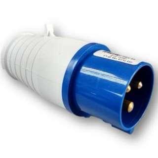 Industrial CEE WaterProof 3-Pin 16-Amp 220V-250V 013 Plug
