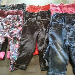 Baby toddler girls jeans and bottoms