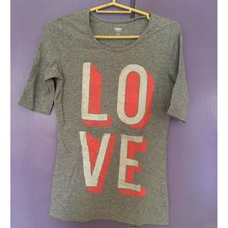 LOVE old navy gray top