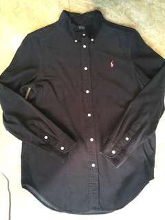 Ralph Lauren Corduroy Black Shirt