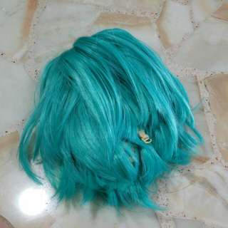 Bright Blue Turquoise Color Wig