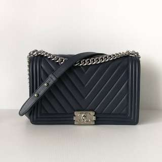 Authentic Chanel Boy Chevron