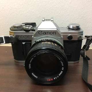 Canon AT-1 Camera with Strap (Not sure if working)