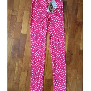 Cotton On Kids - Huggie Tights Cerise/Raibow Star (NEW)