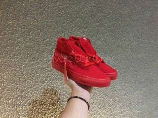 Vans Mono Canvas SK8-Hi Full Red