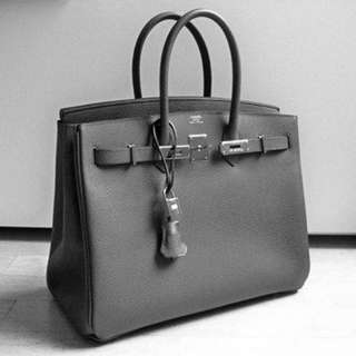 Hermes Medium Ombre Grey Bag
