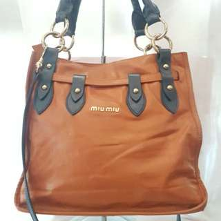 Authentic pre-loved miumiu bag with sling