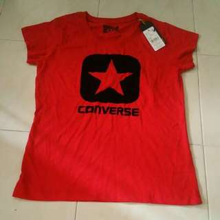 CONVERSE RED CAP SLEEVE TOP