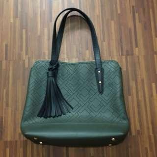 Michaela Army Green Bag