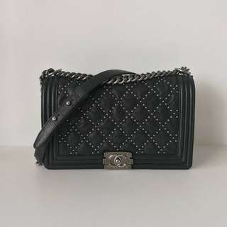 Authentic Limited Chanel Boy Medium Flap