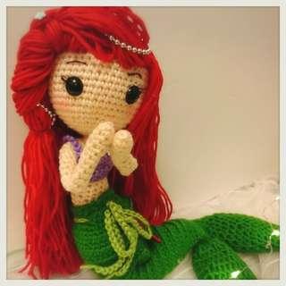 美人魚織針公仔----公主系列