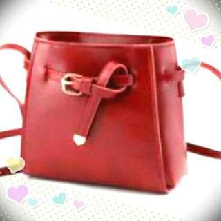 *酒紅色*小方包/小包包/肩背包/側背包/女包