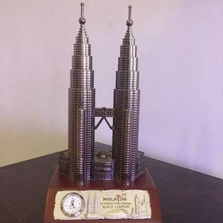 Petronas Twin Towers with Clock