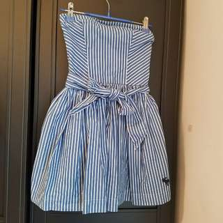 Abercrombie and fitch blue stripe tube dress