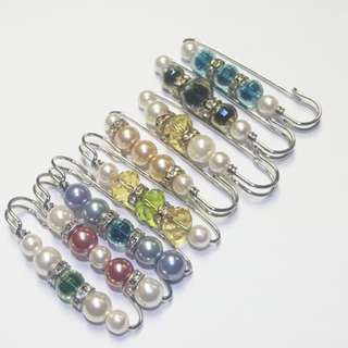 Brooches Hijab pearl Stainless