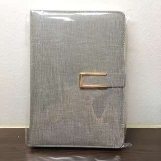 Grey Organiser / Notebook / Planner (Lined)