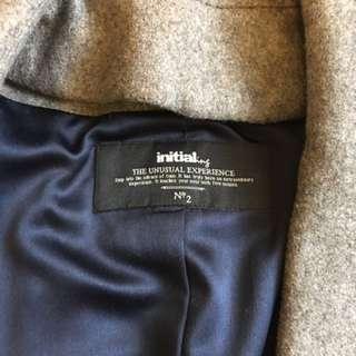 Initial wool coat