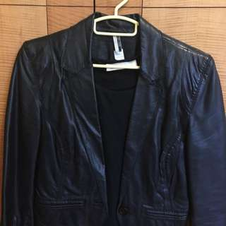 Real Leather jacket top shop