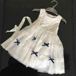 Jual dress flower girl putih