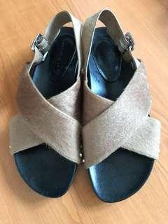 Charles & Keith Fur Sandals