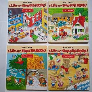 A LIFT-THE -FLAP FUN BOOK! (4 Books)