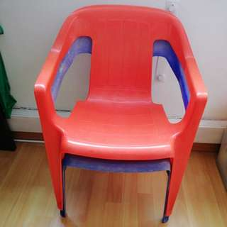Small plastic chairs