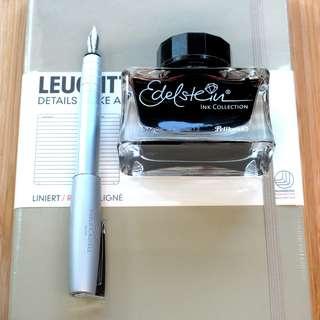 Leuchtturm1917, Pelikan Ink & Faber-Castell Loom Silver