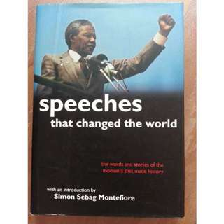 Book - Speeches that changed the world @$18