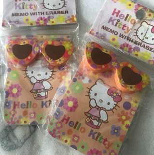 Hello kitty eraser w memo