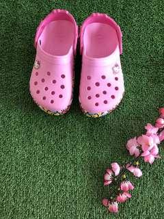 Soft Pink Hello Kitty Crocs