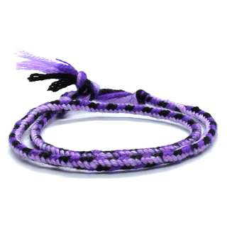 Handmade Chinese Cotton Yarn Black Purple String Knot Erawan Shrine (四面佛) bracelet