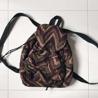 aztec vintage hippie backpack bag