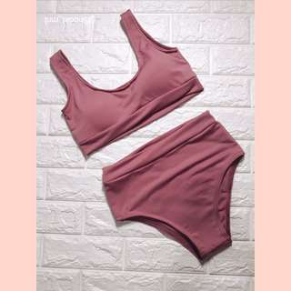 Swimsuit (Sporty blush pink)