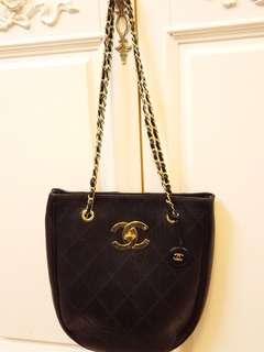 Chanel Vintage 黑金袋