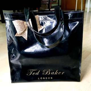 Ted Baker black large icon bow bag