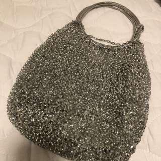 Anteprima 銀白色小手袋