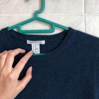 H&M (XS) Cashmere Blue Sweater