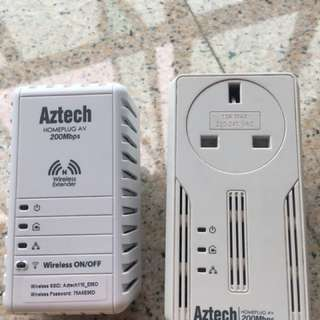 homeplug 200mbps aztech wifi