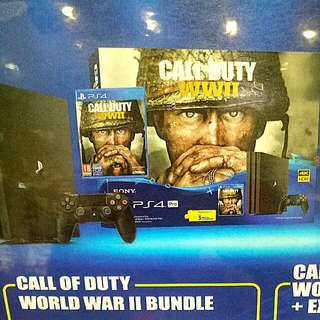 Kredit PS4 Pro 1Tb Call Of Duty World War II Bundle