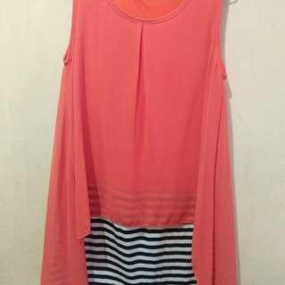 THEORY orange mini dress