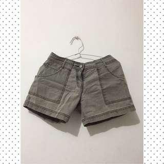 Grayish Green Short Pants
